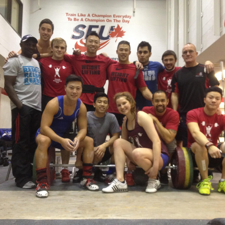 Group of weightlifters